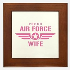 Proud Air Force Wife W [pink] Framed Tile