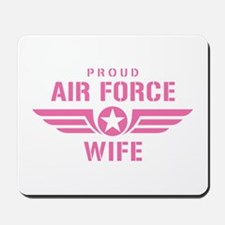 Proud Air Force Wife W [pink] Mousepad