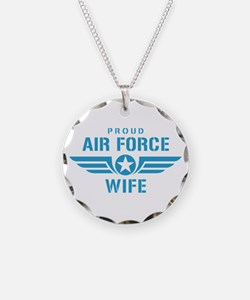 Proud Air Force Wife W Necklace