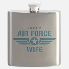 Proud Air Force Wife W Flask