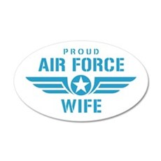 Proud Air Force Wife W Wall Decal