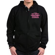Proud Air Force Stepmom W [pink] Zip Hoodie