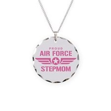 Proud Air Force Stepmom W [pink] Necklace