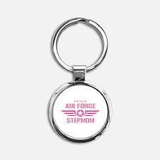 Proud Air Force Stepmom W [pink] Round Keychain