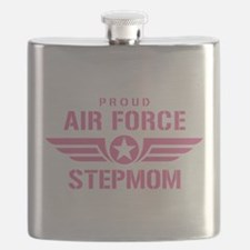 Proud Air Force Stepmom W [pink] Flask