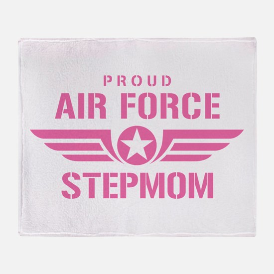 Proud Air Force Stepmom W [pink] Throw Blanket
