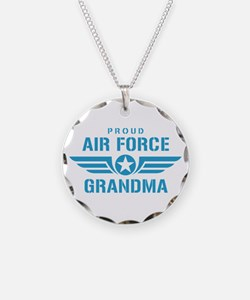 Proud Air Force Grandma W Necklace