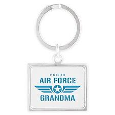 Proud Air Force Grandma W Landscape Keychain