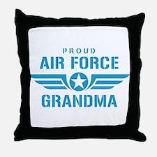 Proud Air Force Grandma W Throw Pillow