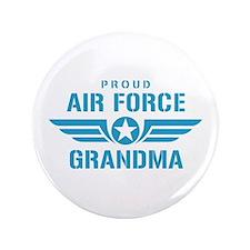 "Proud Air Force Grandma W 3.5"" Button"
