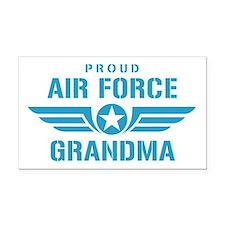 Proud Air Force Grandma W Rectangle Car Magnet