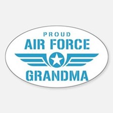 Proud Air Force Grandma W Sticker (Oval)