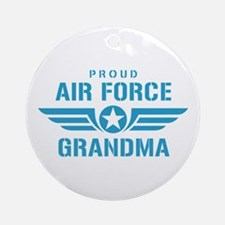 Proud Air Force Grandma W Ornament (Round)