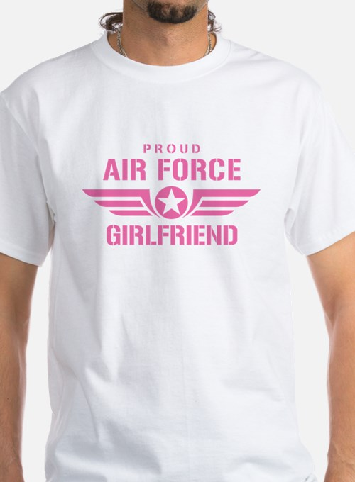 Proud Air Force Girlfriend W [pink] Shirt