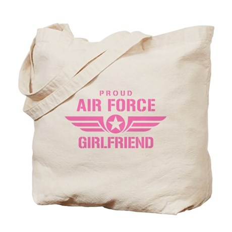 Proud Air Force Girlfriend W [pink] Tote Bag
