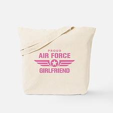 Proud Air Force Girlfriend W [pink] Tote Bag