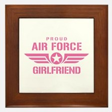 Proud Air Force Girlfriend W [pink] Framed Tile