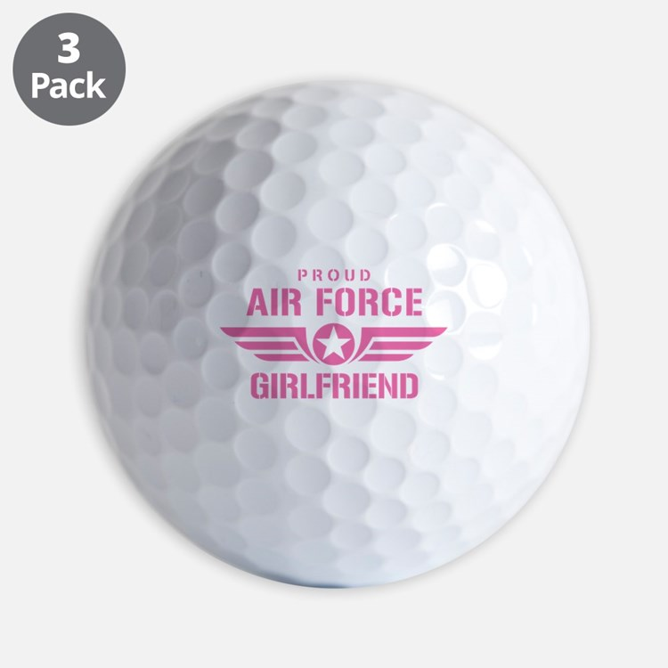 Proud Air Force Girlfriend W [pink] Golf Ball