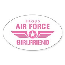 Proud Air Force Girlfriend W [pink] Decal