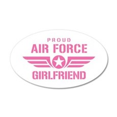 Proud Air Force Girlfriend W [pink] Wall Decal