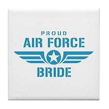 Proud Air Force Bride W Tile Coaster