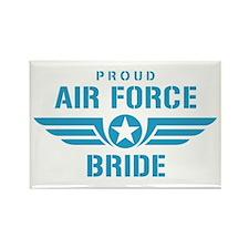 Proud Air Force Bride W Rectangle Magnet