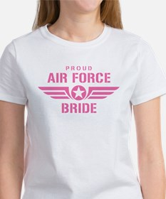 Proud Air Force Bride W [pink] Women's T-Shirt