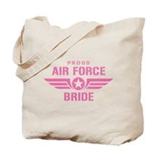Proud Air Force Bride W [pink] Tote Bag