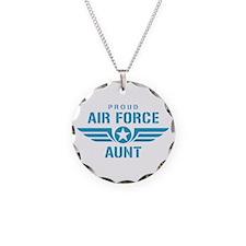 Proud Air Force Aunt W Necklace
