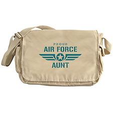 Proud Air Force Aunt W Messenger Bag