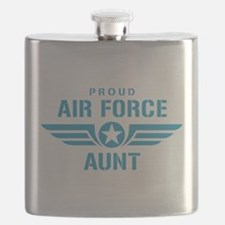Proud Air Force Aunt W Flask