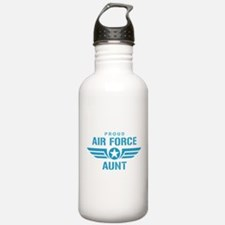 Proud Air Force Aunt W Sports Water Bottle