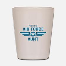 Proud Air Force Aunt W Shot Glass