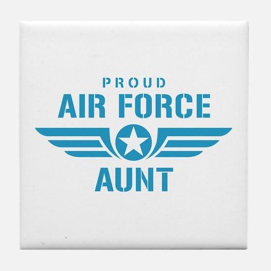 Proud Air Force Aunt W Tile Coaster