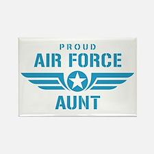 Proud Air Force Aunt W Rectangle Magnet