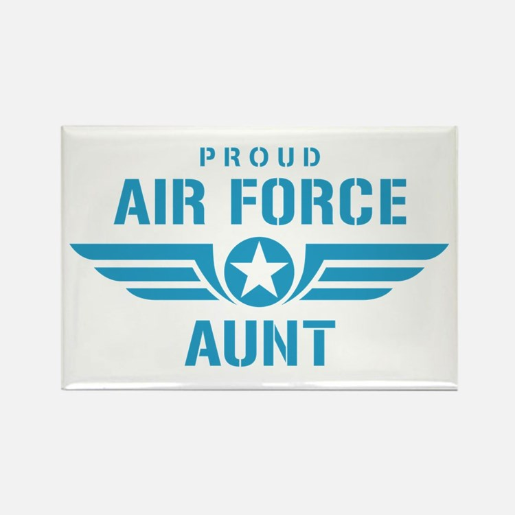 Proud Air Force Aunt W Rectangle Magnet