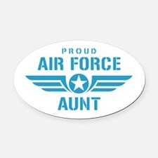Proud Air Force Aunt W Oval Car Magnet