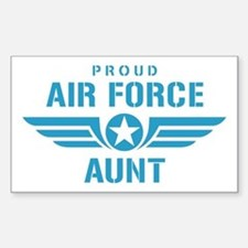 Proud Air Force Aunt W Sticker (Rectangle)