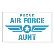 Proud Air Force Aunt W Stickers