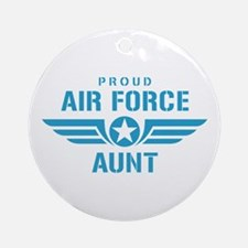 Proud Air Force Aunt W Ornament (Round)