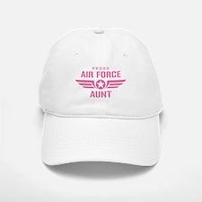 Proud Air Force Aunt W [pink] Baseball Baseball Cap