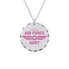 Proud Air Force Aunt W [pink] Necklace