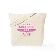 Proud Air Force Aunt W [pink] Tote Bag