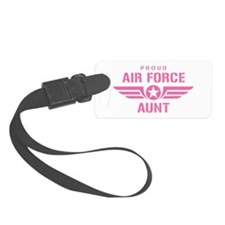 Proud Air Force Aunt W [pink] Luggage Tag