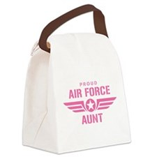 Proud Air Force Aunt W [pink] Canvas Lunch Bag