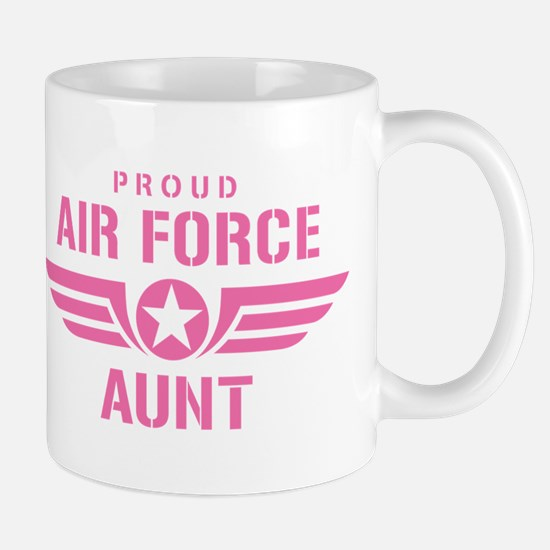 Proud Air Force Aunt W [pink] Mug
