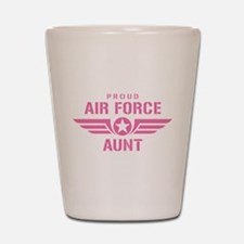 Proud Air Force Aunt W [pink] Shot Glass