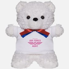 Proud Air Force Aunt W [pink] Teddy Bear