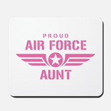 Proud Air Force Aunt W [pink] Mousepad