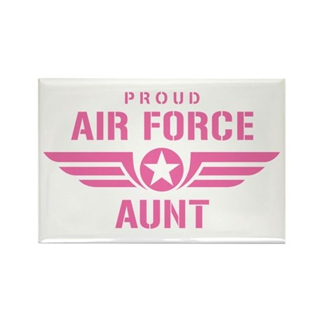 Proud Air Force Aunt W [pink] Rectangle Magnet